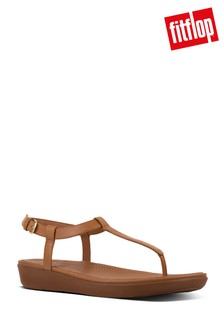 FitFlop™ Caramel Leather Tia Toe Post Sandal