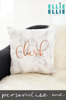 Personalised Marble Cushion by Ellie Ellie