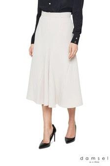 Damsel In A Dress Neutral Ebony Tailored Skirt