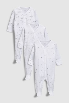 Delicate Woodland Sleepsuits Three Pack (0-12mths)
