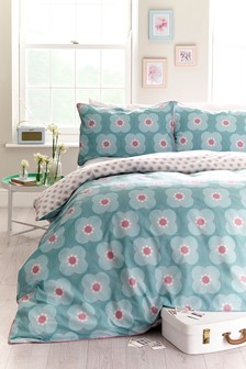 Spiral Floral Duvet Cover And Pillowcase Set
