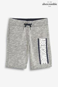 Abercrombie & Fitch Grey Fleece Logo Short
