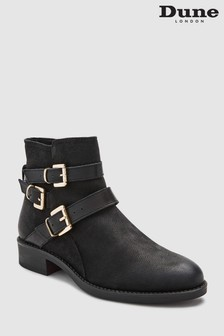 Dune Black Phoenixx Three Buckle Strap Ankle Boot