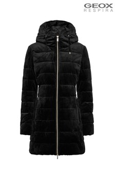 Geox Felicity Black Puffed Jacket