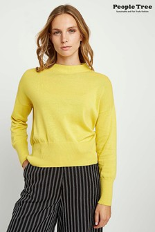 People Tree Yellow Organic Cotton Charlotte Jumper