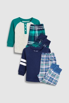 Check Woven Pyjamas Two Pack (9mths-8yrs)