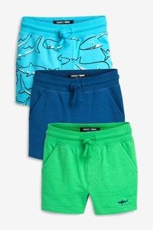 鯊魚圖案短褲三件裝 (3個月至7歲)