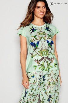 B by Ted Baker Green Highgrove Short Sleeve Top
