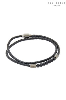 Ted Baker Black Lizaa Leather Bracelet