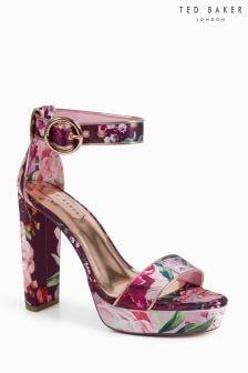 Ted Baker Jewell 2 Floral Satin Platform Sandal