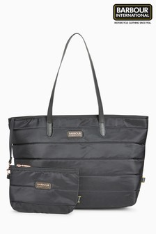 Barbour® International Trail Nylon Quilted Tote Bag