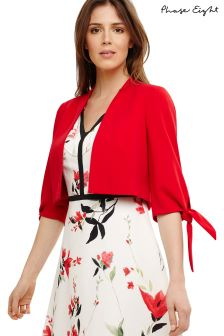 Phase Eight Carmine Claudia Tie Bow Sleeved Jacket