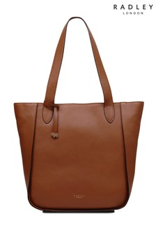 Radley London Indus Tan Painters Mews Zip Top Shoulder Bag