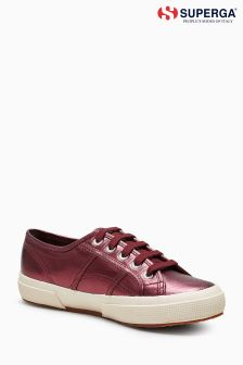 Baskets Superga® 2750 bordeaux métallisé