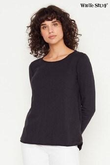 White Stuff Black Carly Jersey T-Shirt