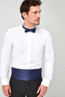 Wing Collar Shirt With Bow Tie And Cummerbund
