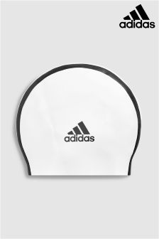 adidas 3 Stripe Black Swim Cap