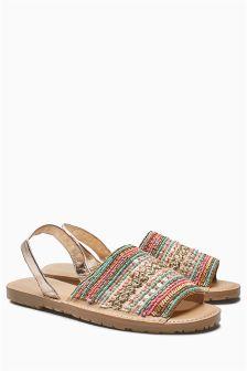 Embellished Beach Sandals