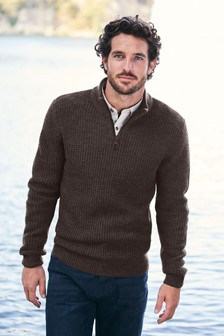 Chunky Zip Neck Jumper