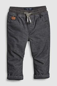 Pantaloni cu cordon elastic din jerseu cu căptușeală (3 luni - 6 ani)