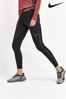 Nike Pro Black Warm Golden Fierce Leggings