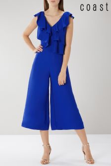 Coast Blue Jojo Ruffle Jumpsuit