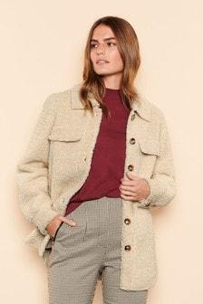 Longline Shacket With Wool