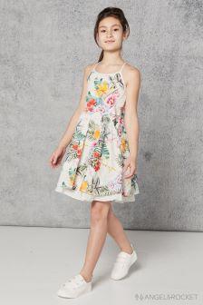 Белое платье с цветочным рисунком Angel And Rocket