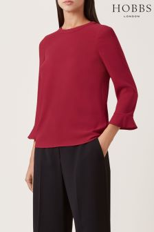 Hobbs Berry Red Venetia Top