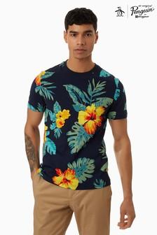 Original Penguin® Blue Exploded Floral T-Shirt