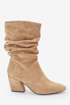 Forever Comfort® Knautschige Stiefel aus Veloursleder