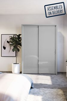Peyton Grey Medium Sliding Wardrobe