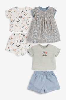 Organic Cotton 5 Piece Jersey Set (3mths-7yrs)