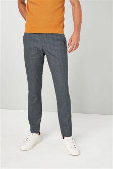 Mini Check Skinny Fit Trousers