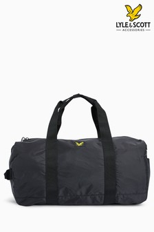Lyle & Scott Black Barrel Bag