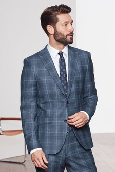Slim Fit Marzotto Signature Check Suit