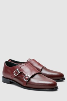 Signature Comfort Leather Monk Shoes