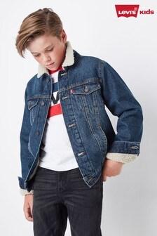 Levi's® Kids Denim Sherpa Trucker Jacket