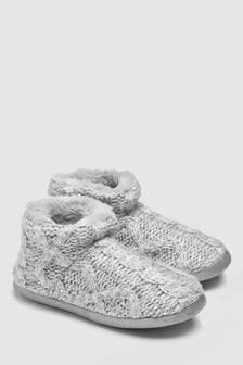 Knit Slipper Boots