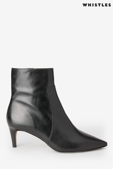 Whistles Black Celia Sock Boots