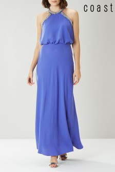 Coast Blue Meghan Pearl Trim Maxi Dress