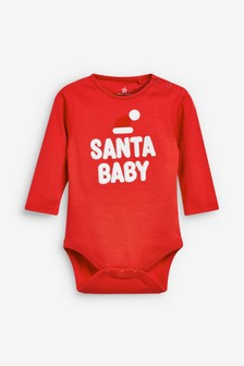 Santa Baby Long Sleeve Bodysuit (0mths-2yrs)