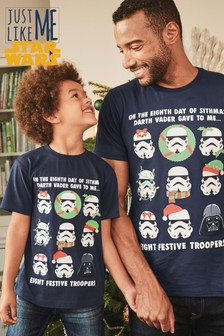 Dziecięcy t-shirt Matching Family Christmas Stormtrooper License  (3-14 lat)