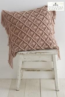 Macramé Diamond Cushion by Pineapple Elephant