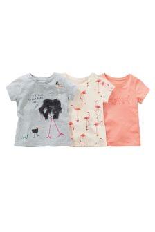 Набор из 3 футболок с изображениями устриц (3 мес.-6 лет)