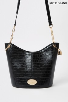 River Island Black Medium Bucket Bag dcc42b136bf20