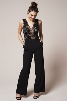 Placement Lace Jumpsuit