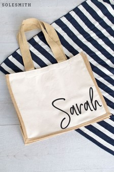 Personalised Hessian Tote Bag by Solesmith