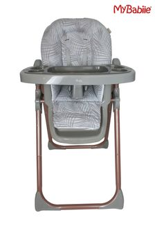 Samantha Faiers Rose Gold Grey Tropical Premium Highchair by My Babiie