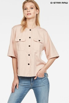 G-Star Pink Beryl Short Sleeve Shirt
